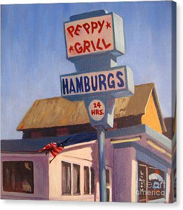 Peppy Grill Canvas Print by Katrina West