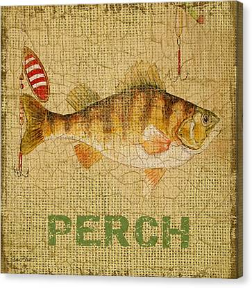 Perch On Burlap Canvas Print by Jean Plout