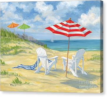 Perfect Beach Canvas Print by Paul Brent