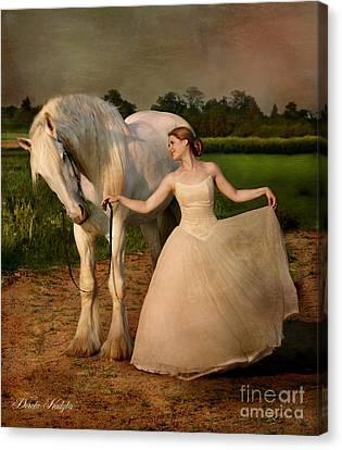 Perfect Dancers Canvas Print by Dorota Kudyba