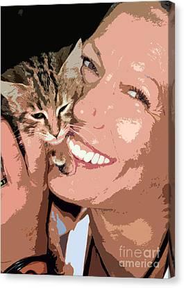 Perfect Smile Canvas Print by Stelios Kleanthous