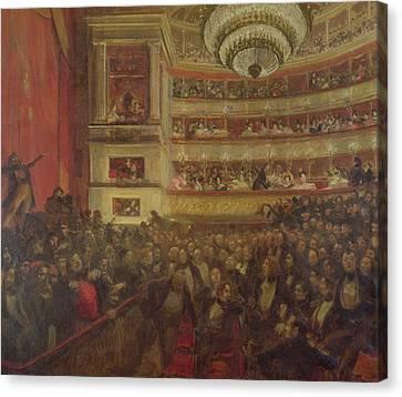 Performance Of Hernani By Victor Hugo Canvas Print by Paul Albert Besnard