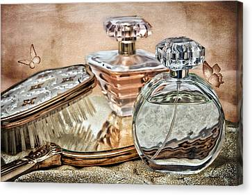 Perfume Bottle Ix Canvas Print by Tom Mc Nemar