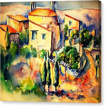 Perillos Abandoned French Village    Canvas Print by Trudi Doyle