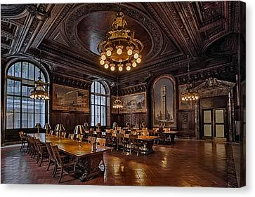 Periodicals Room New York Public Library Canvas Print by Susan Candelario