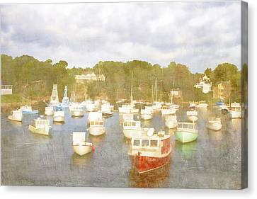 Perkins Cove Lobster Boats Maine Canvas Print by Carol Leigh