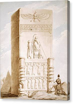 Persepolis Bas-relief, 19th Century Canvas Print by British Library