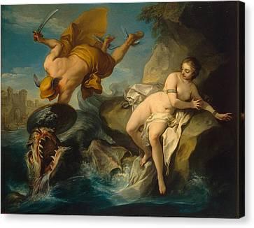 Perseus And Andromeda Canvas Print by Charles-Andre van Loo