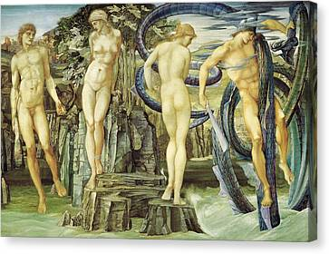 Perseus And Andromeda Canvas Print by Edward Burne-Jones