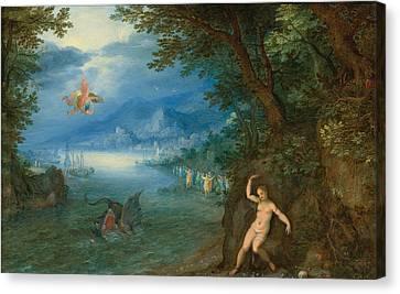 Perseus And Andromeda Canvas Print by Jan Brueghel the Elder