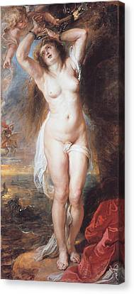 Perseus Freeing Andromeda Canvas Print by Peter Paul Rubens