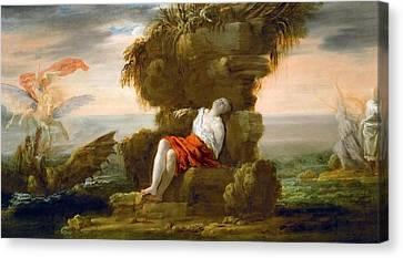 Perseus Frees Andromeda Canvas Print by Domenico Fetti