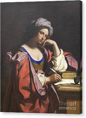 Persian Sibyl By Guercino Canvas Print by Roberto Morgenthaler