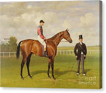 Persimmon Winner Of The 1896 Derby Canvas Print by Emil Adam