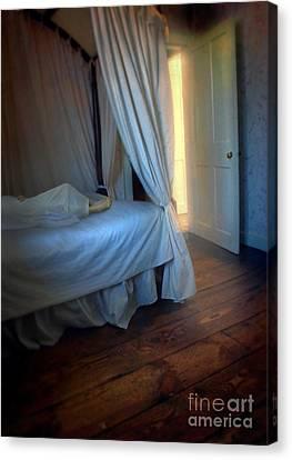 Person In Bed Canvas Print by Jill Battaglia