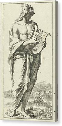 Personification Of Music, Arnold Houbraken Canvas Print by Arnold Houbraken