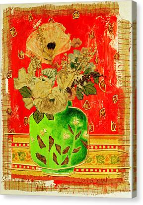 Petals And Leaves Canvas Print by Diane Fine