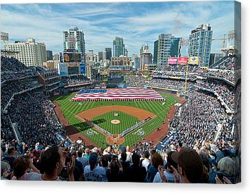 Petco Park Season Opener 2011 Canvas Print by Mark Whitt