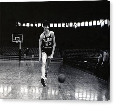 Pete Maravich Dribbling Between Legs Canvas Print by Retro Images Archive