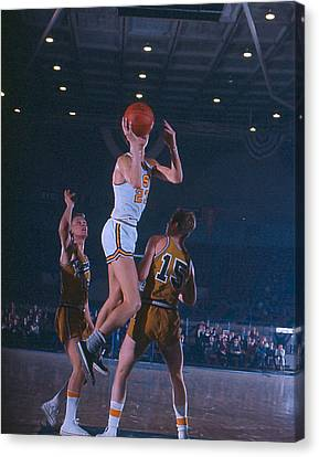 Pete Maravich Floater Canvas Print by Retro Images Archive