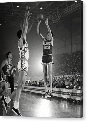 Pete Maravich Jump Shot Canvas Print by Retro Images Archive