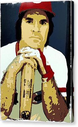 Pete Rose Poster Art Canvas Print by Florian Rodarte