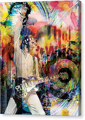 Pete Townshend - The Who  Canvas Print by Ryan Rock Artist