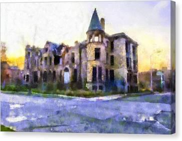 Peterboro Castle Ruins Canvas Print by Priya Ghose