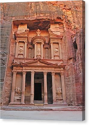 Petra Treasury Canvas Print by Tony Beck