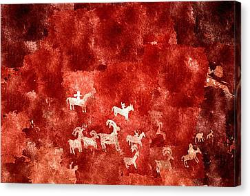 Petroglyphs Canvas Print by Duende Artworks