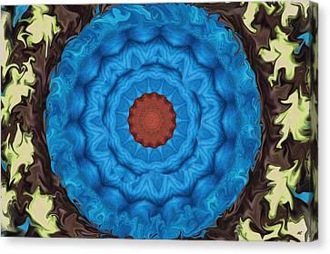 Petunias Inside Out Canvas Print by Aliceann Carlton
