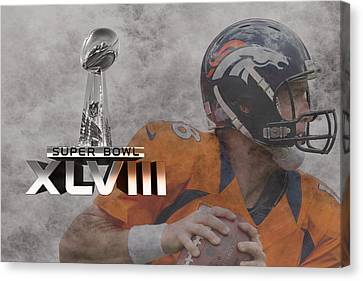 Peyton Manning Canvas Print by Joe Hamilton