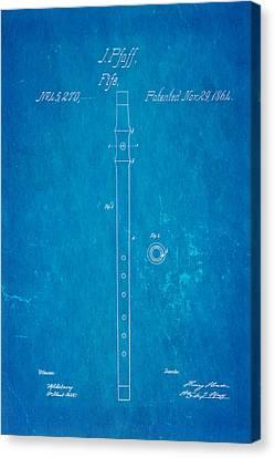 Pfaff Fife Patent Art 1864 Blueprint Canvas Print by Ian Monk