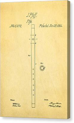 Pfaff Fife Patent Art 1864 Canvas Print by Ian Monk