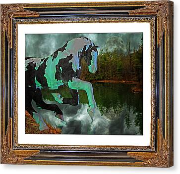 Phantom On The Lake Canvas Print by Betsy C Knapp
