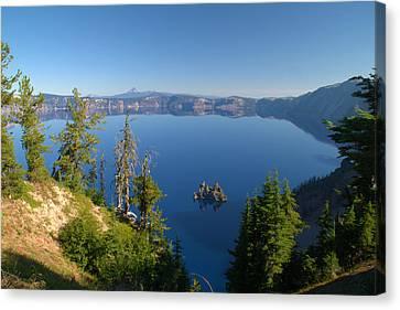 Phantom Ship Island In Crater Lake Canvas Print by Brian Harig