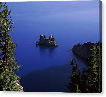 Phantom Ship Island Viewed From Sun Canvas Print by Panoramic Images