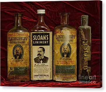 Pharmacy - Liniments For Sore Muscles Canvas Print by Paul Ward