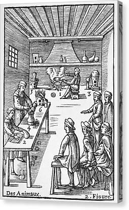 Pharmacy Preparations, 16th Century Canvas Print by Spl