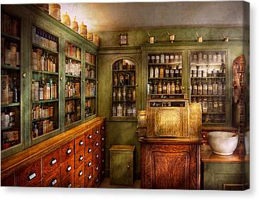 Pharmacy - Room - The Dispensary Canvas Print by Mike Savad