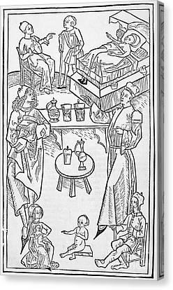 Pharmacy Scenes, 16th Century Canvas Print by Spl