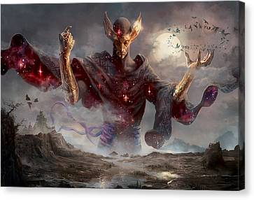 Phenax God Of Deception Canvas Print by Ryan Barger