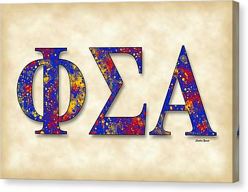 Phi Sigma Alpha - Parchment Canvas Print by Stephen Younts