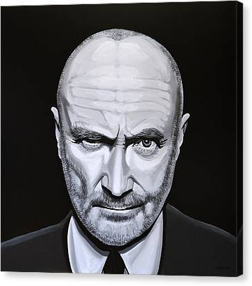 Phil Collins Canvas Print by Paul Meijering
