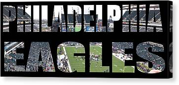 Philadelpha Eagles Canvas Print by Tom Gari Gallery-Three-Photography