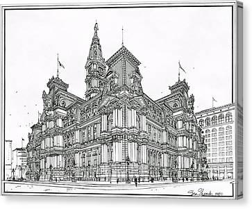 Philadelphia City Hall 1911 Canvas Print by Ira Shander