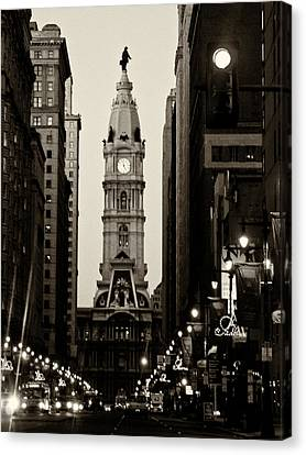Philadelphia City Hall Canvas Print by Louis Dallara