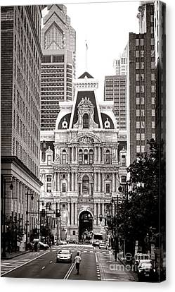 Philadelphia City Hall Canvas Print by Olivier Le Queinec