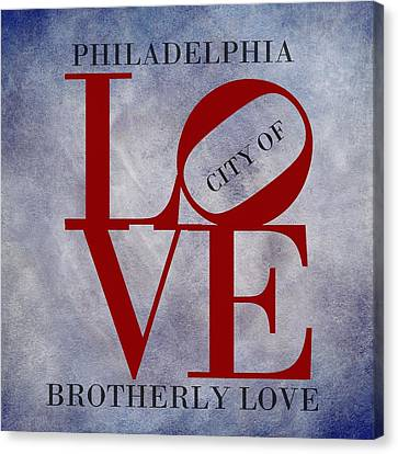 Philadelphia City Of Brotherly Love  Canvas Print by Movie Poster Prints