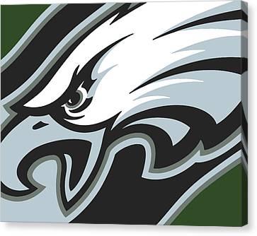 Philadelphia Eagles Football Canvas Print by Tony Rubino